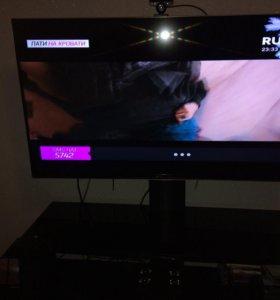 Телевизор LG Smart TV 3D 47LB69+стойка с полками