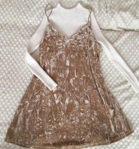 Платье, водолазка