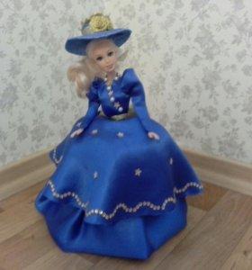 Кукла-шкатулка. Ручной работы.