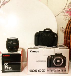 Canon 600d+50 mm 1'4 с блендой