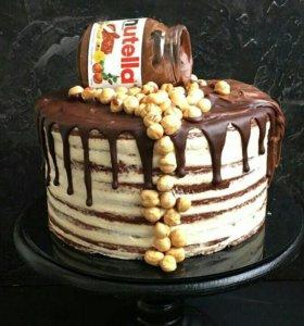 Шоколадный тортик с нутеллой (цена за 1кг)