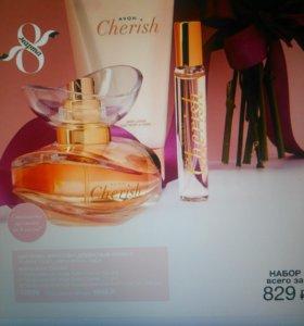 Духи cherish 50 мл + 10 мл+ парфюмерный лосьон
