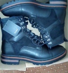 Мужские кожаные ботинко