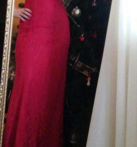 Красное платье длинное 44-46