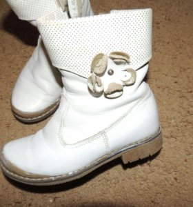 Кожаные ботинки шаговита на флисе