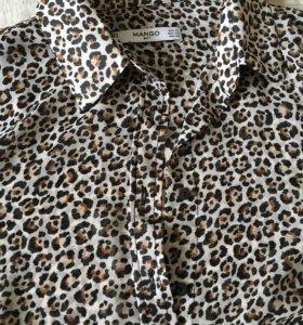 Рубашка леопардовая Mango