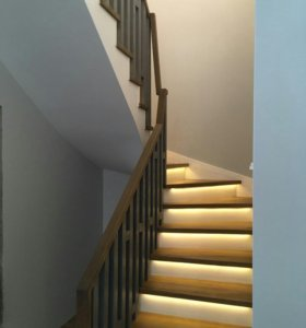 Бетонные лестницы с забежными ступенями