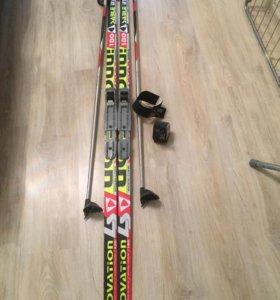 Лыжня с палками и липучками