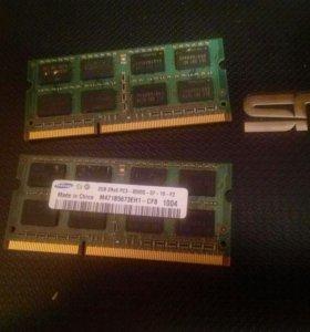 2шт. Оперативная память Samsung ddr3 2gb