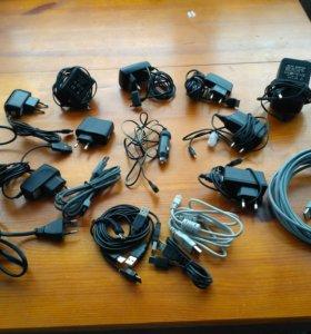 Зарядное устройство, адаптера, наушники,юсби кабе