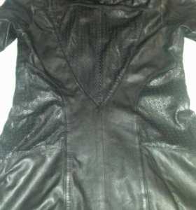 Кожаная удалённая куртка