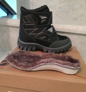 Зимние ботинки на мальчика р.30