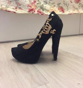 Туфли с высоким подъемом. Каблук 12 см