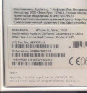 iPhone 5s 16gb гарантийный