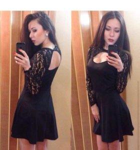 Платье новое Черное кружево
