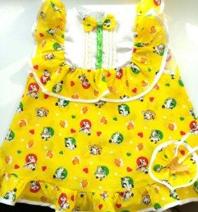 Новое платье+подарок босоножки!