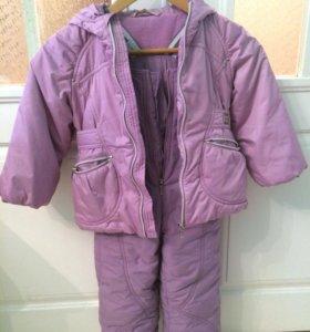 Зимний комплект(полукомбинезон,куртка)