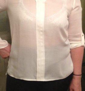 Блуза белая из крепдешина