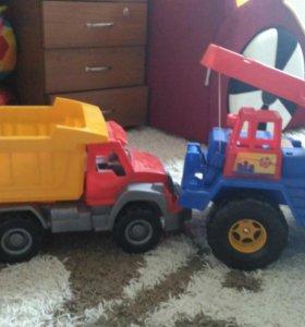 Детская машина, Камаз и Подъемный Кран