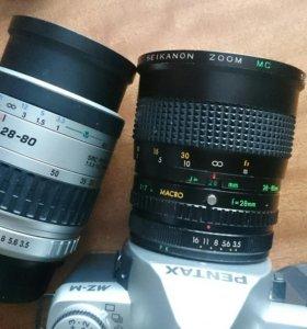 Фотоаппарат PENTAX MZ-M с двумя обьективами