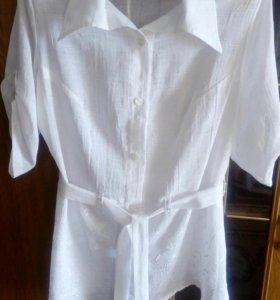 Рубашка блуза р. 50-52