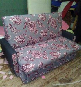 Выкатной диван розы 140см