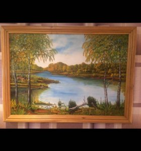 Картина на холсте маслом 100x75
