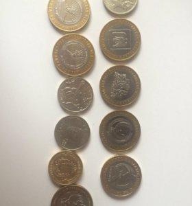 Юбилейные монеты 10 2 рубля