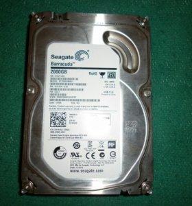 жесткий диск для компьютера Seagate 2000Гб