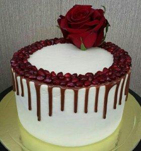 Нежный тортик для женщин (1000 за 1 кг(