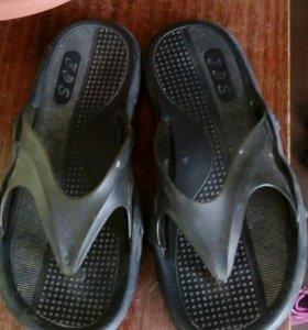 Сланцы, туфли мужские