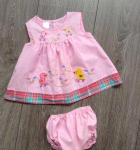 Детское платье с панталончиками
