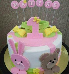 Торт на годик (цена за 1 кг)