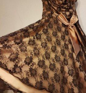 Новое платье атлас кружево