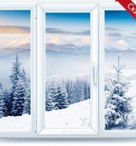 Пластиковые окна,двери,остекление балкона