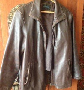 Куртка кожаная с подкладкой