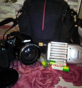 Фотоаппарат, сумка, 7батареек, заряд.уст-во