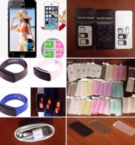 iPhone чехлы защитные стёкла часы зарядки и т.д.