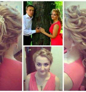 Прически свадебные и вечерние