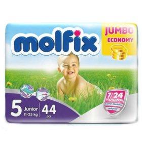Подгузники Molfix. Размер 5 на 11-18 кг , 44 шт