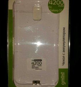 Для SAMSUNG Galaxy S5 внешний аккумулятор-чехол