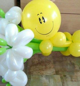 Букет из воздушных шариков  с сердечком