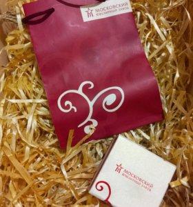 Подарочная коробочка и пакет Московский ювелирный