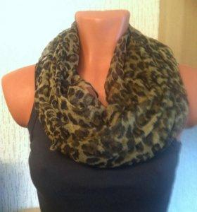 Леопардовый легкий платок