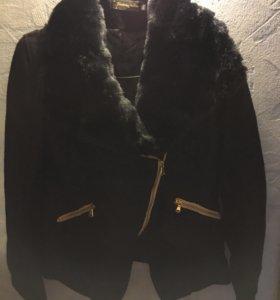 Пиджак весенний с мехом