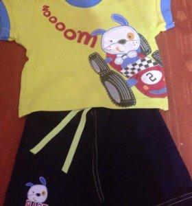 Футболка+шорты,костюм 68.