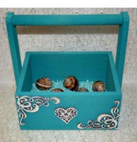 Подарочный ящик бирюзовый