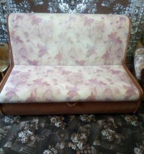 Диван Аккордеон и 2 кресла