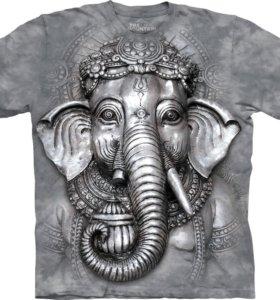 Футболка Big Face Ganesh, большая футболка.