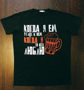 Чёрная футболка с принтом